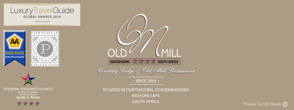 old mill lodge and de oude meul restaurant, situated in oudtshoorn